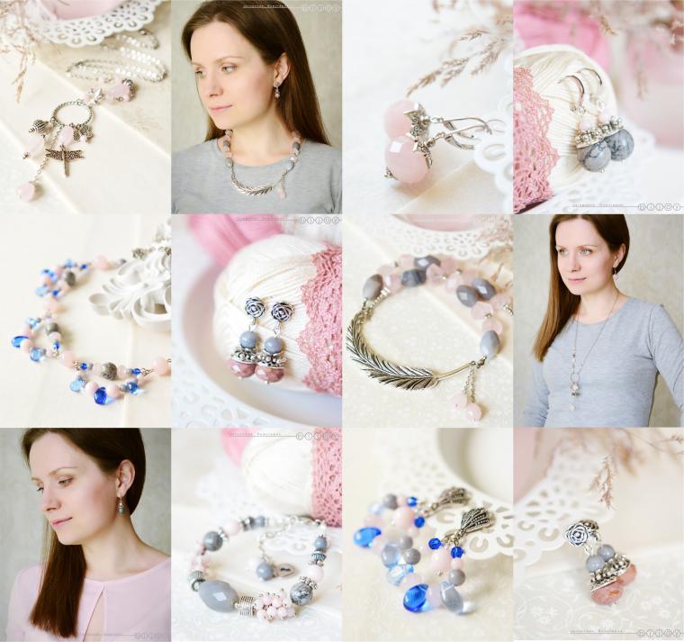 новости магазина, новая коллекция, розовый, серьги, серый, весеннее настроение, весенняя коллекция
