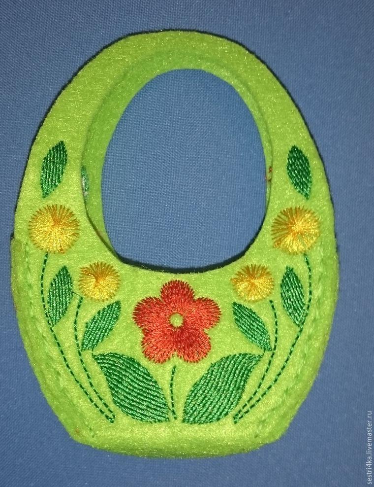 Делаем корзиночку для пасхального яйца из фетра, фото № 14