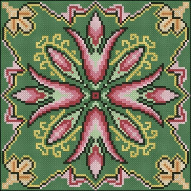 Вышивка крестом узоры на подушку