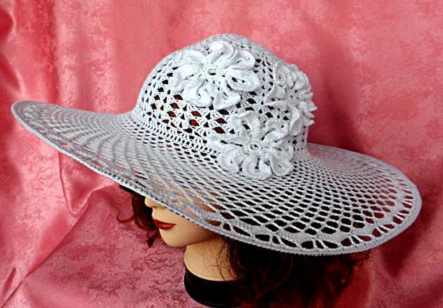 Вязание ажурные летние шляпки