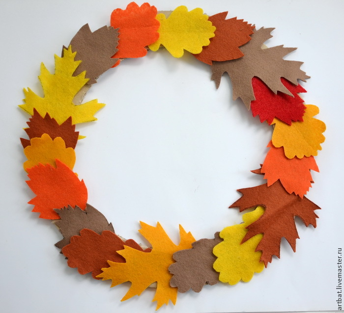 DIY Autumn Wreath Without Felting, фото № 6