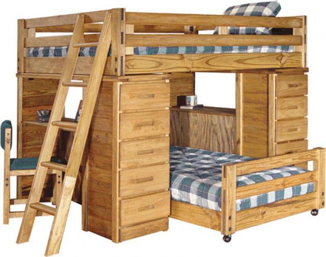 Как сделать двухъярусную кровать своими руками из бруса 9