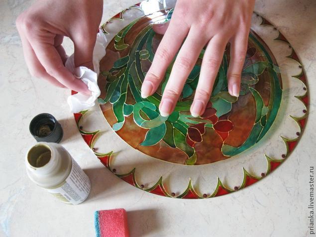 Воплощаем модерн в росписи по стеклу., фото № 21