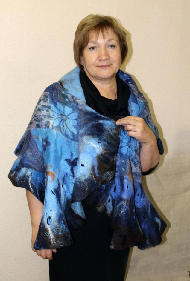 нуно-фелтинг, шарфы на шелке