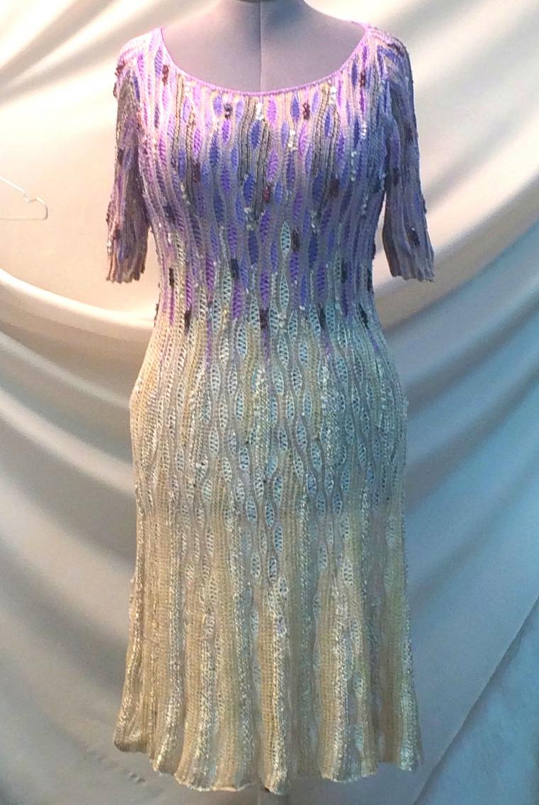 аукцион кондриной, новогоднее платье, вязаный палантин