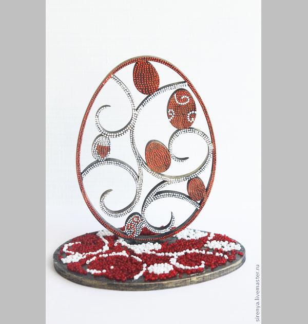 мозаика, роспись по дереву, пасхальный декор, подарок, мастер-класс
