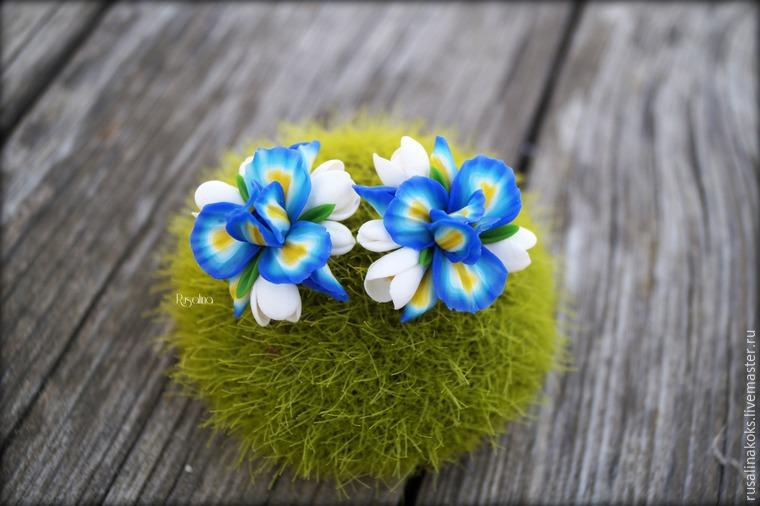 Видео мастер-класс: создаем клипсы с весенними цветами из полимерной глины, фото № 1