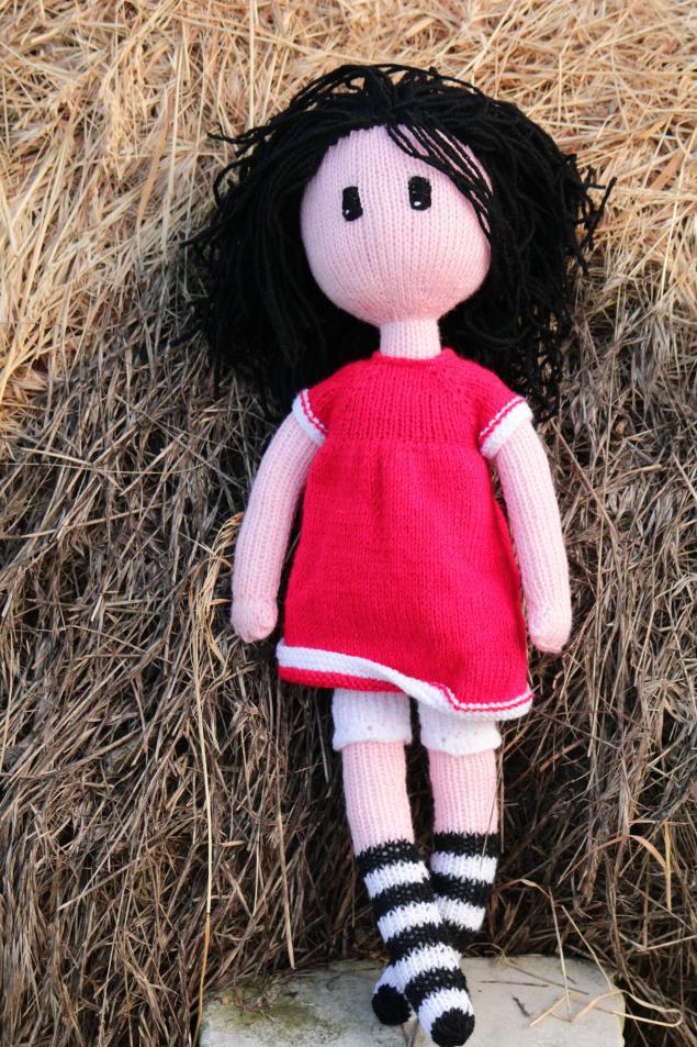 вязаная кукла, кукла ручной работы, кукла в подарок, хендмейд