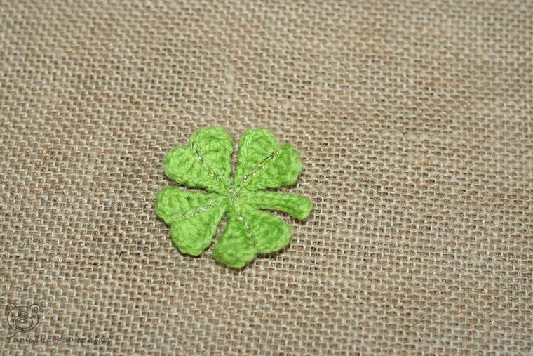 Crochetting a Four Leaf Clover, фото № 22