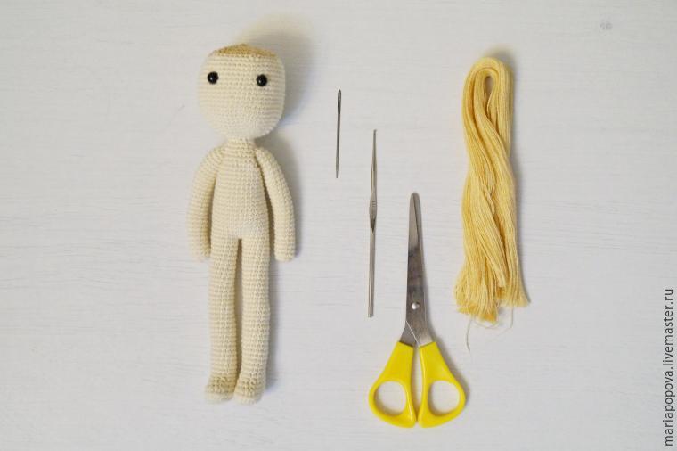 вязание крючком, кукла ручной работы