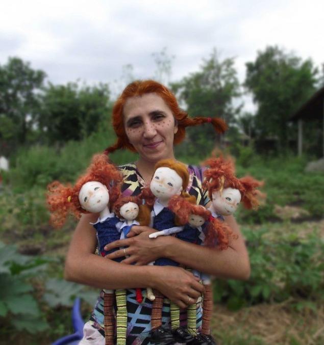 пеппи, куклы, текстильная кукла, подарок