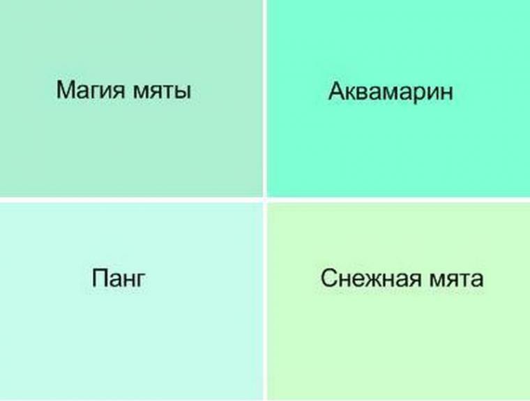 Как сделать мятный цвет - Russkij-Litra.ru