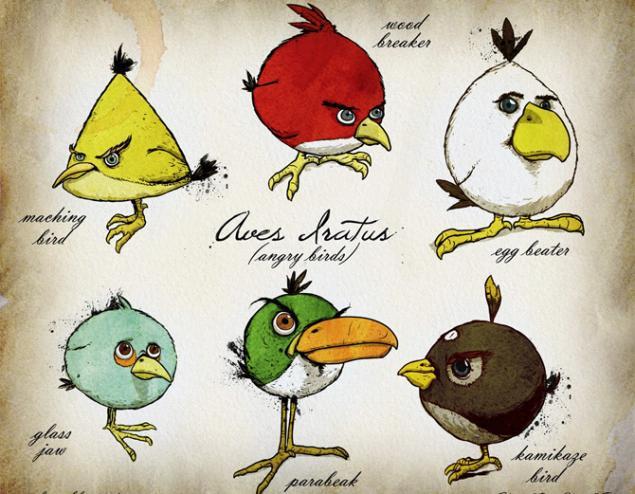 Птички нарисованные своими руками 93