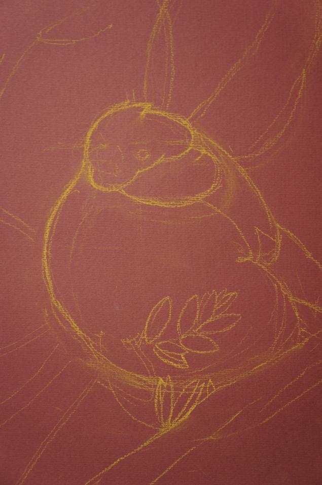 как рисовать снегирей