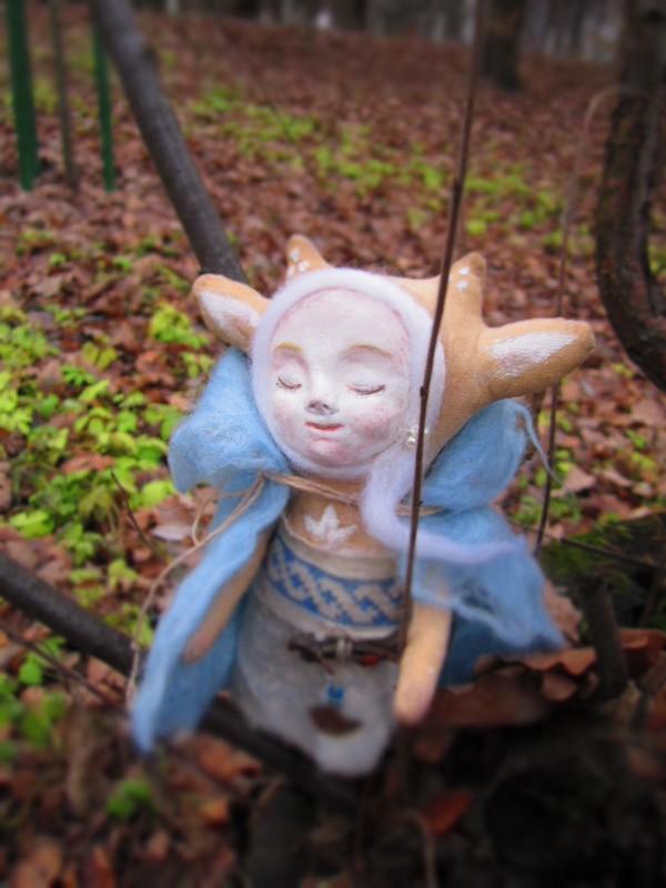 интерьерная кукла, осень