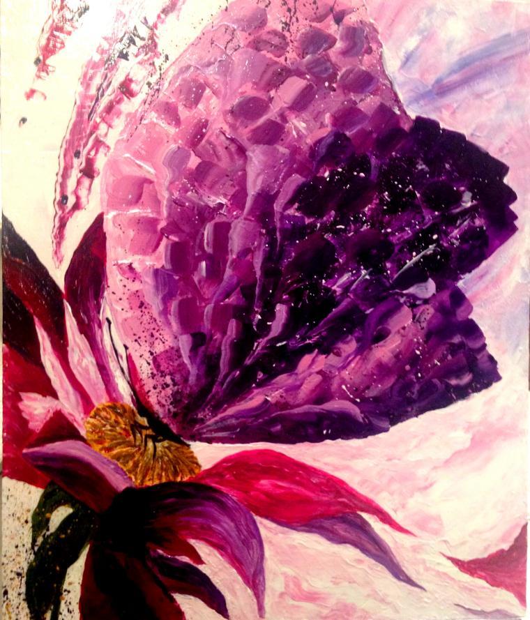 подарок на 8 марта, подарок на день рождения, подарок на день валентина, картина в подарок, живопись, бабочка
