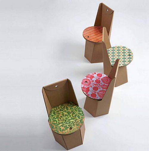 Как украсить мебель из картона своими руками