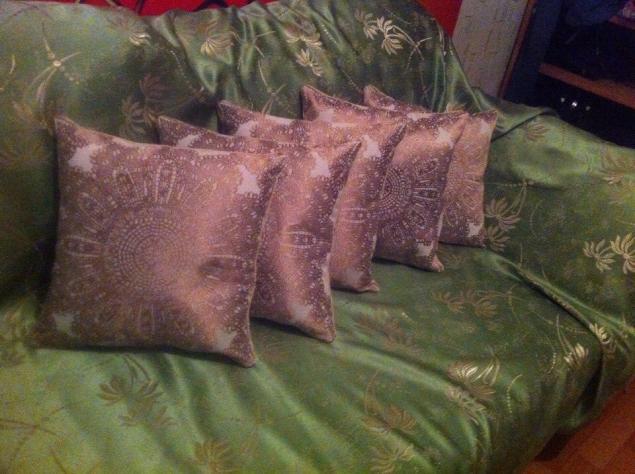 подушки, кружево