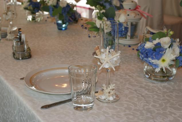 оформление свадьбы, ракушки