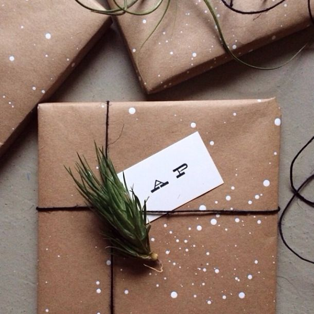 Упаковка подарка в крафт бумагу мастер класс 99
