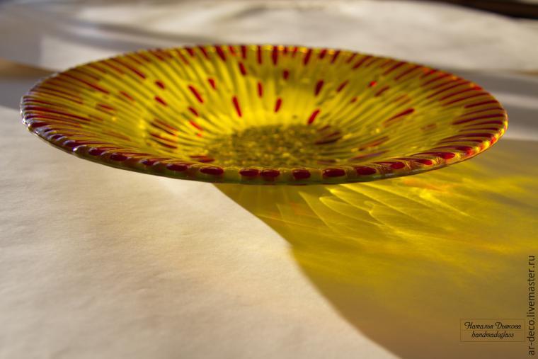 тарелка из стекла