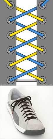 Оригинальные способы шнуровки ботинок. Виды и способы шнуровки., фото № 1