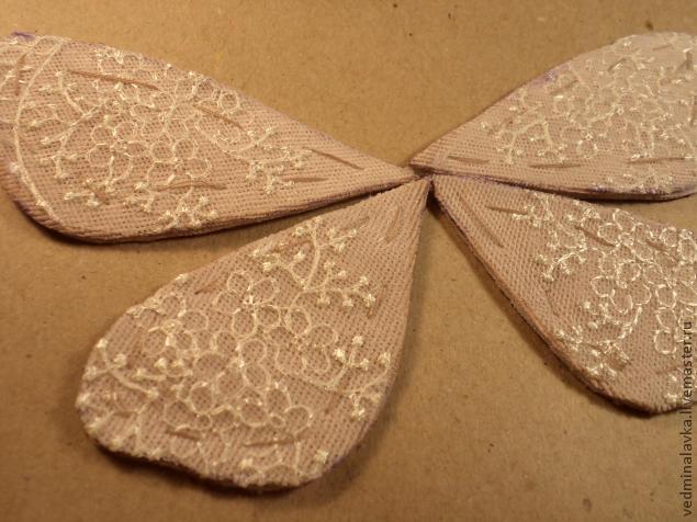 Текстильная брошь-мотылек, фото № 7