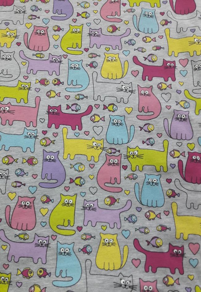 ткань с котятами