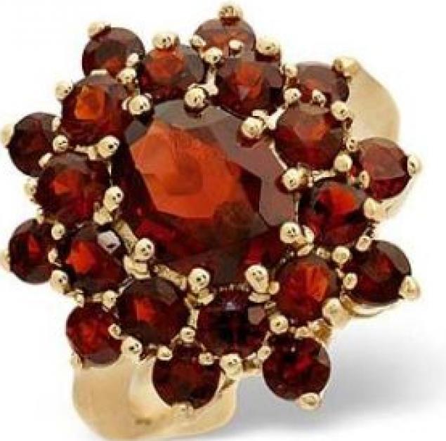 натуральные камни, красный гранат, авторские украшения, бижутерия с камнями
