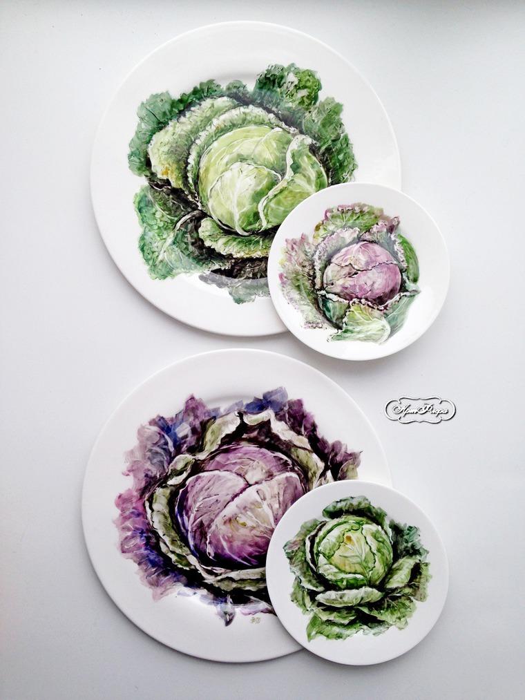 Декорирование стен тарелками, фото № 29