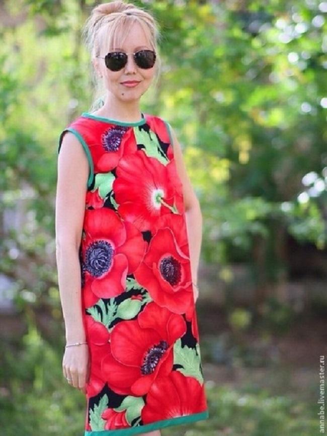 цветочный принт, юбка из хлопка