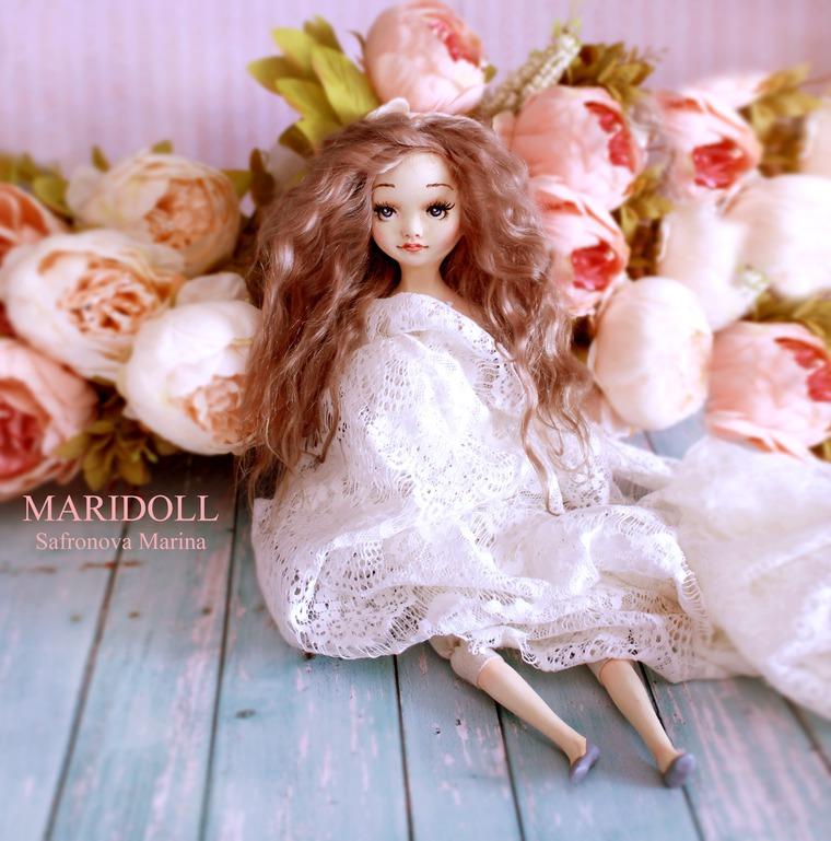 будуарная кукла, safronova marina, интерьерная кукла, нежная кукла, дорогая кукла, кукла для женщины