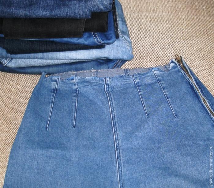 Мастер класс сшить юбку из джинс