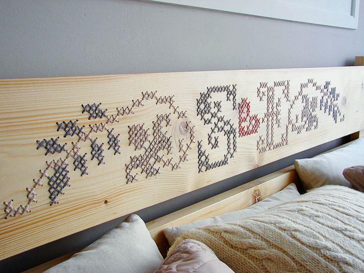 Bed Headboard Cross Stitch