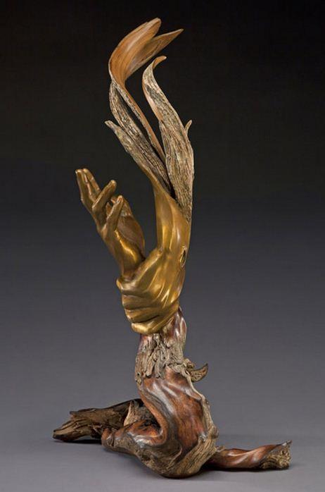 J. Christopher White.  Изящные деревянные скульптуры. Девятнадцатая