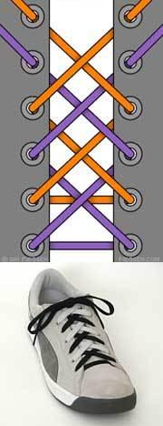 Оригинальные способы шнуровки ботинок. Виды и способы шнуровки., фото № 19