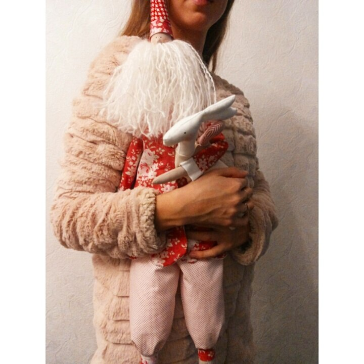 мастер-класс, подарок своими руками, курсы, игрушки, хоббистудия, винтажный стиль, тильда дед мороз