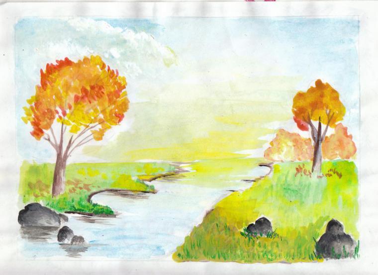 Рисунок на тему осенний урожай
