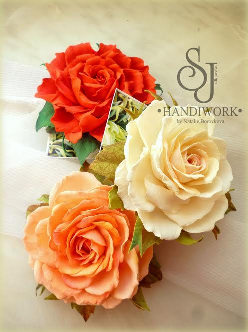 цветы из фоамирана, украшения с цветами, мастер-класс по цветам