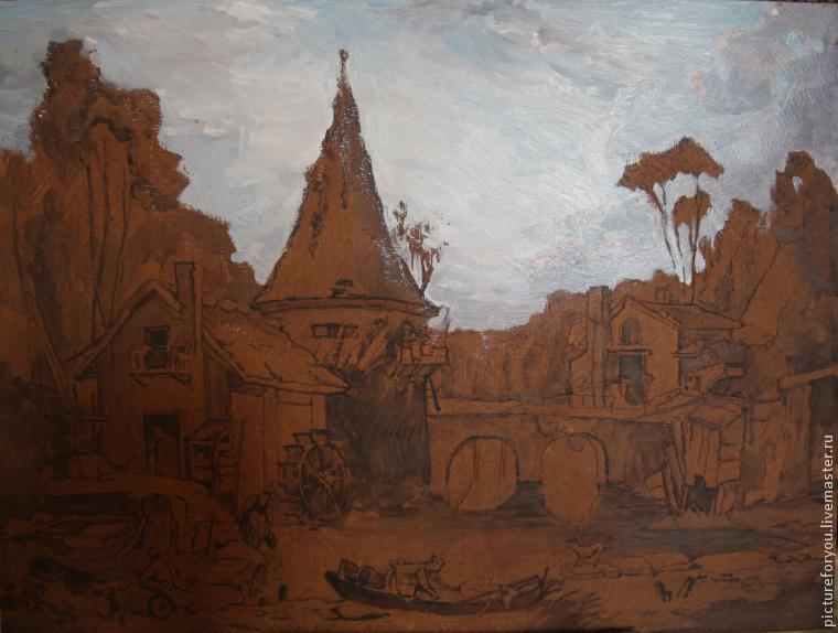 landscape, painting