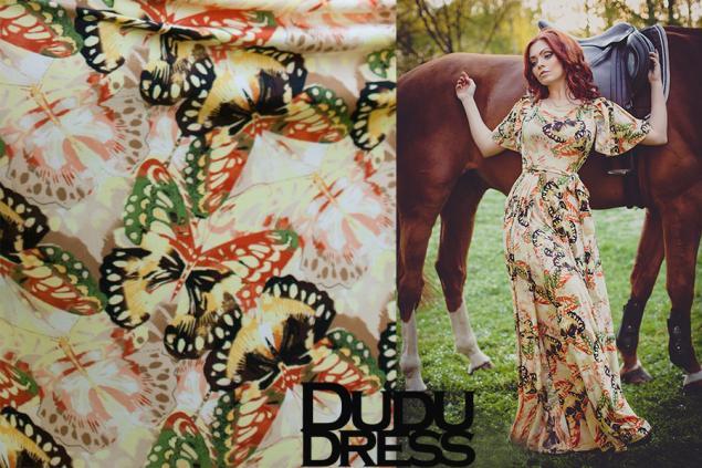 бабочки, трикотаж, масло, трикотаж масло, dudu-dress, платья, платья в пол, длинные платья, красивые платья