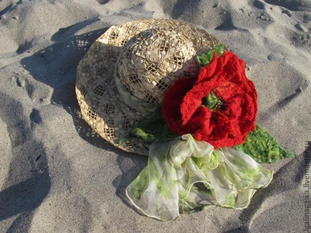 как научиться валять, интерьерный цветок