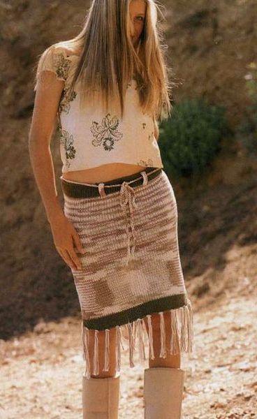 юбка спицами