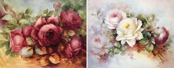 цветочный мотив в работах