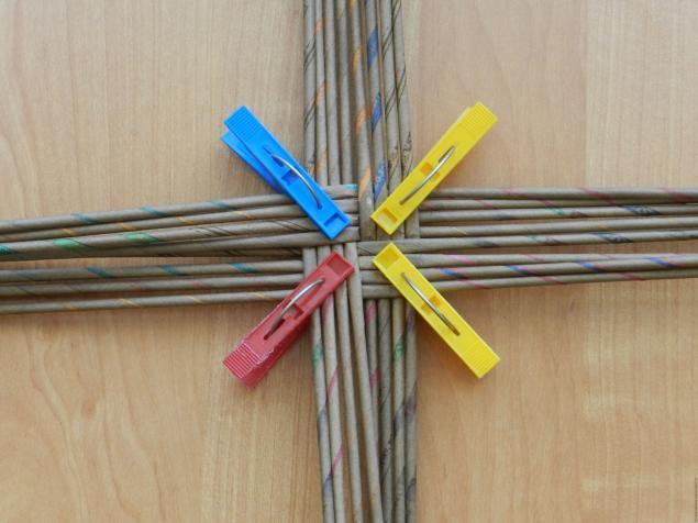 плетение веревочка