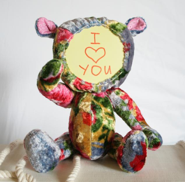 мишка, записная книжка, винтаж, оригинальный подарок, авторские мишки тедди, для интерьера, для вдохновения