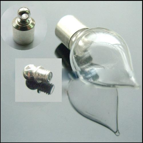 кулон, стеклянная бутылочка