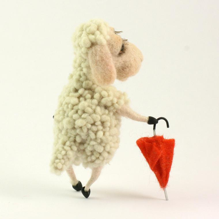 валяние, овца, символ 2015 года