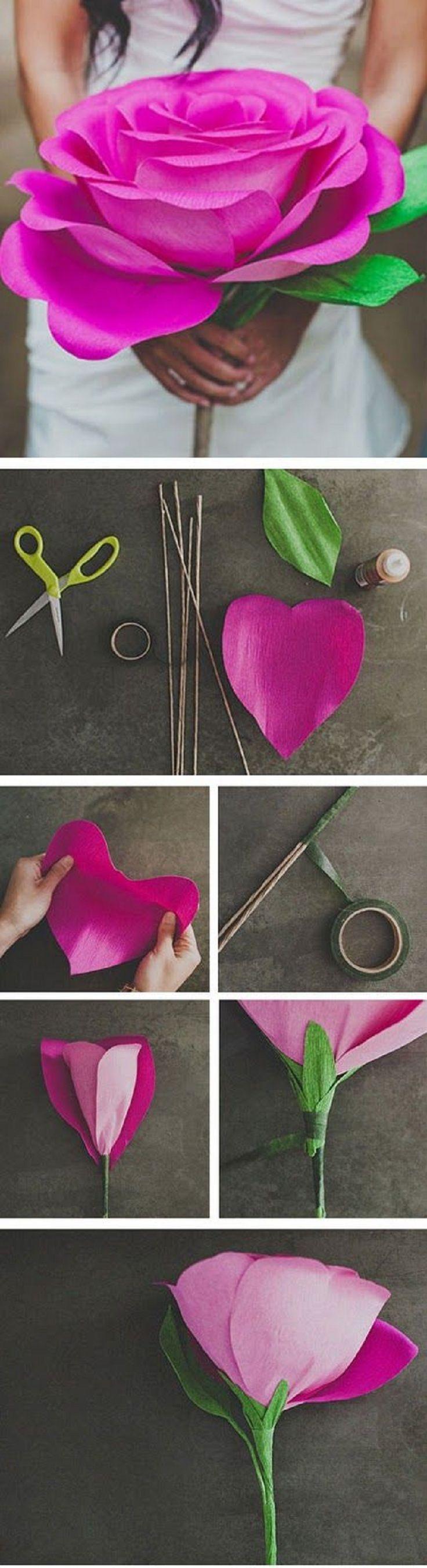 Сделать розу своими руками схема