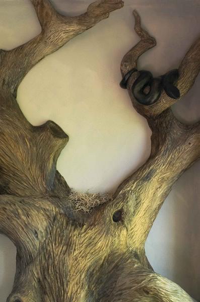 Дерево на стене из папье-маше своими руками 53